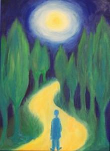 Wandre aus dem Dunkel in DAS LICHT